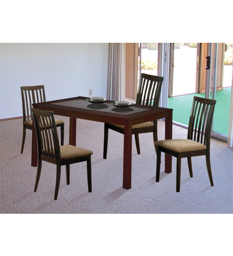 a2b5cd76b4 Zuari Piru Dining set 6 Seater with glass top 730728 (Table) 730714 (Chair